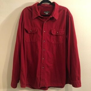 Eddie Bauer red long sleeve button up flannel 2XL